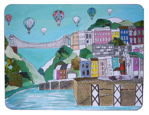 Clifton Balloons Bristol Extra Large Placemat - dining room