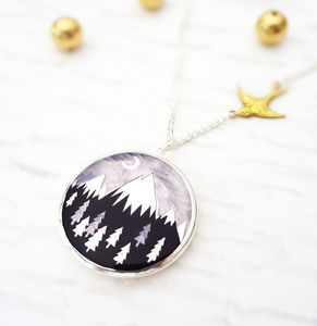 Always Over The Mountain Locket Necklace