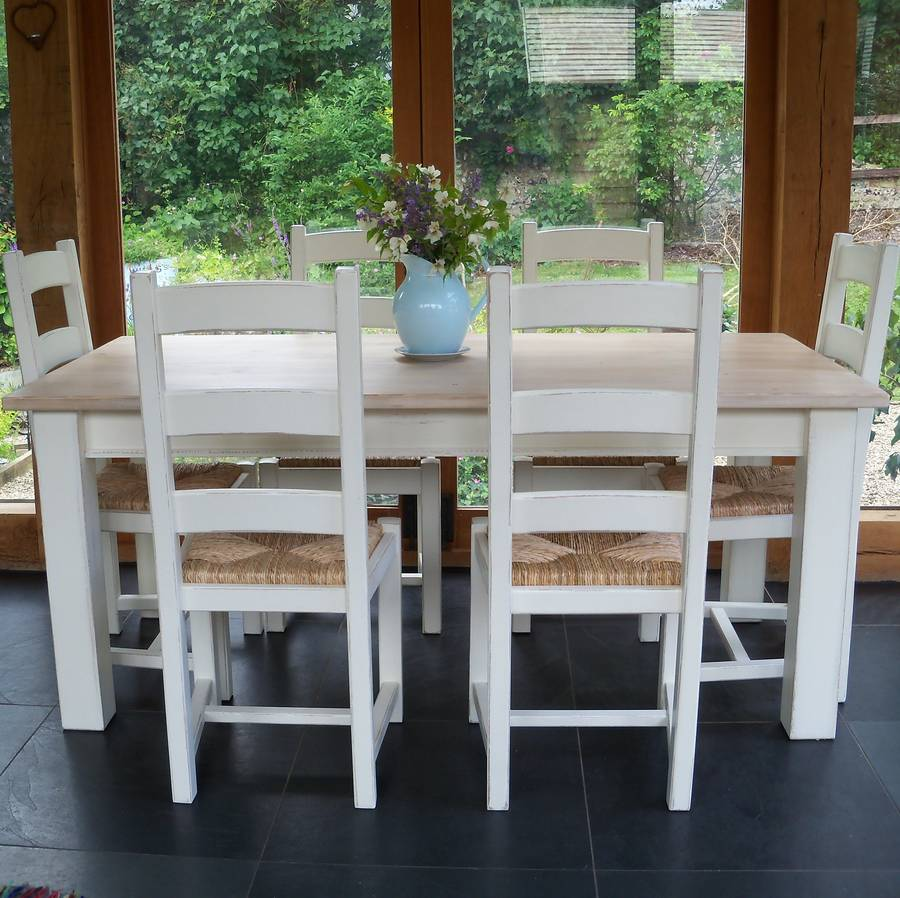Painted ladder back chairs - Beckford Table With Ladder Back Chairs Hand Painted