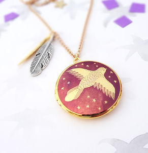 Spread Your Wings Bird Locket Necklace