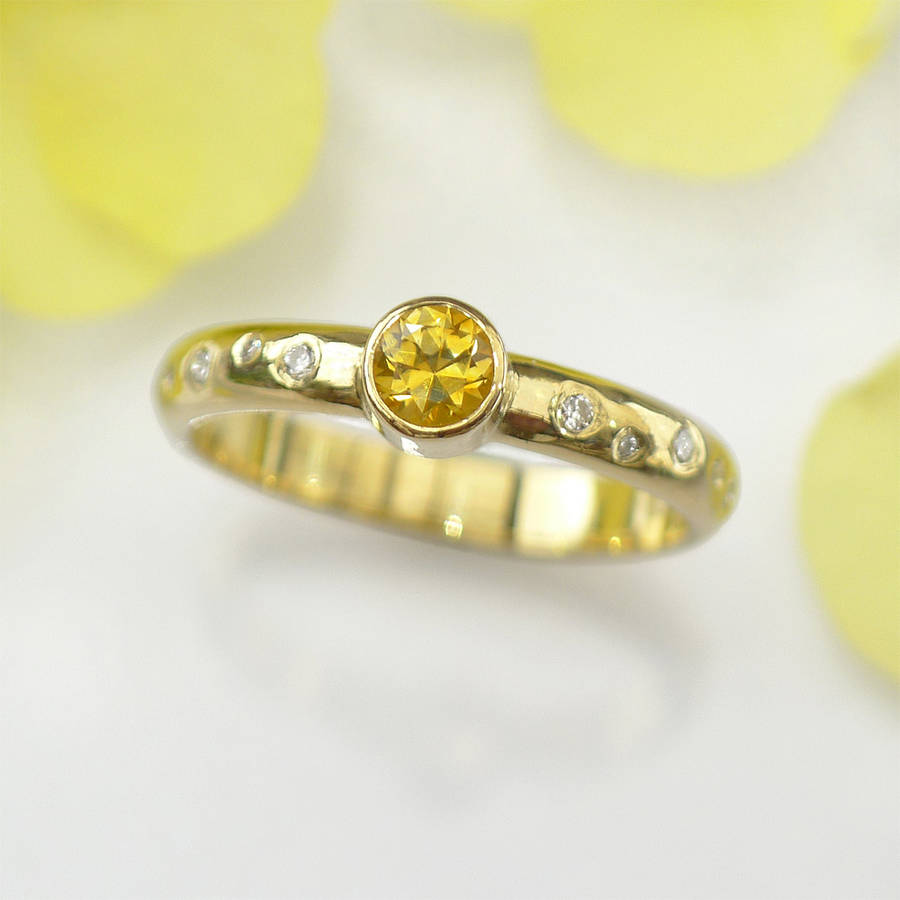 and gold white ring naples yellow sapphire diamond i