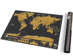 Deluxe Travel Scratch Map - posters & prints