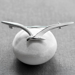 Sterling Silver Seagull Brooch - pins & brooches