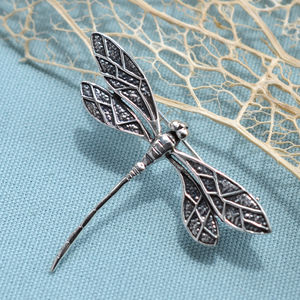 Sterling Silver Dragonfly Brooch - pins & brooches