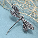 Sterling Silver Dragonfly Brooch