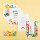 Summer butterfly invitation - open front