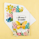 Summer butterfly invitation - assembled
