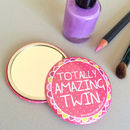'Amazing Twin' Pocket Mirror