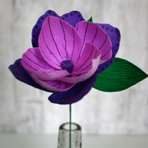 Purple Pop Paper Flower - artificial flowers & plants