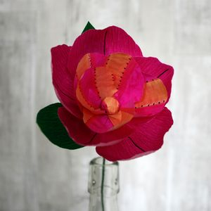 Cerise Pop Paper Flower - artificial flowers