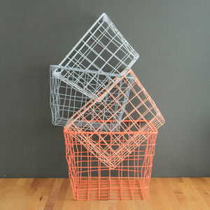 Four Small Storage Basket Nest - storage & organisers