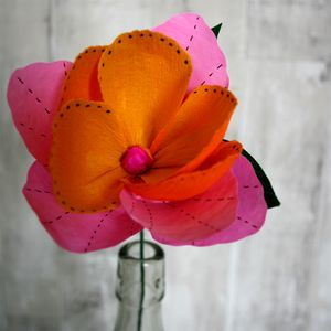 Pink Pop Paper Flower - flowers & plants
