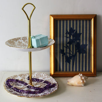 Vintage Bone China Jewellery Stand
