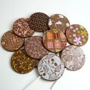 Chocolate Lollies, Set Of 10, With Colourful Designs