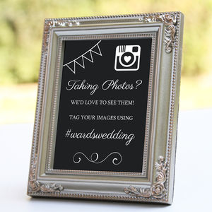 Personalised Instagram Wedding Sign - room decorations