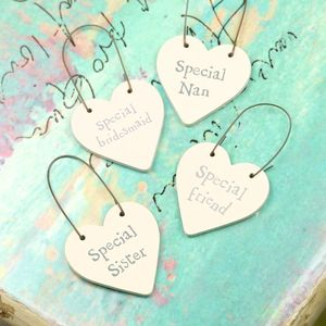 Special Person Little Hanging Heart Signs - home accessories