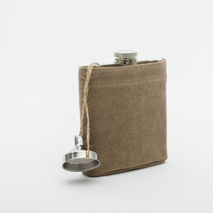 Canvas Cased Hip Flask - food & drink gifts