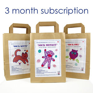 Sock Creature Craft Kit Subscription