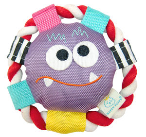 Monster Plush Rolli Frisbee Dog Toy - dogs