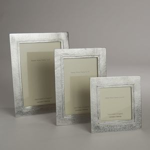 Raised Line Cast Pewter Photo Frame - picture frames