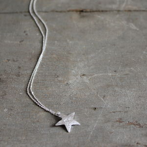 Bright Star Silver Plated Necklace