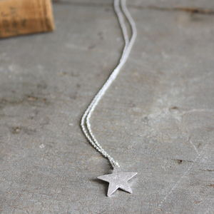 Silver Bright Star Necklace - necklaces & pendants