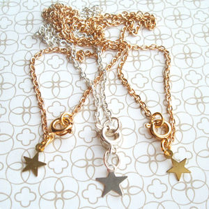Anklet Chain With Star Charm In Gold Or Silver - body jewellery