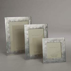 Hearts Cast Pewter Photo Frame - picture frames
