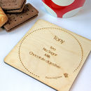 Personalised Tea Or Coffee Wooden Coaster