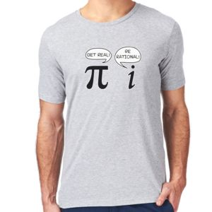 Be Rational Get Real Pi Maths Teacher Mens T Shirt