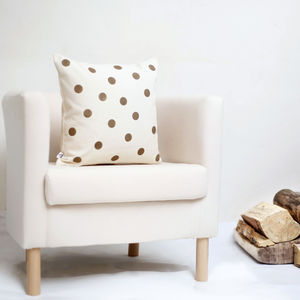 Gold Polka Dot Cushion