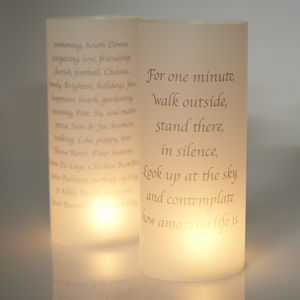 Personalised Luminaries - candles & candle holders