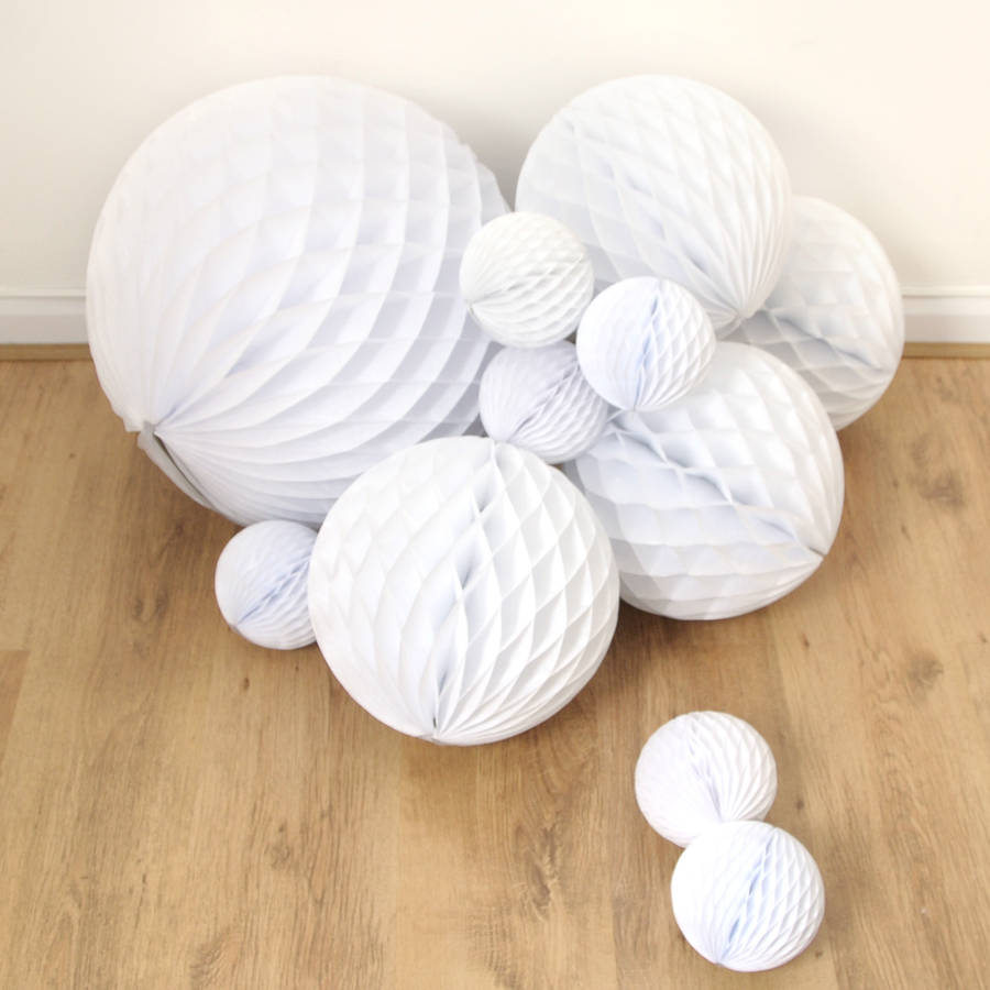 Giant Tissue Paper Ball Decoration By Peach Blossom