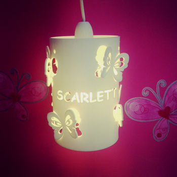 Personalised Butterfly Ceiling Shade Children's Shade
