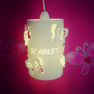 Personalised Butterfly Ceiling Shade Children's Shade - children's lighting