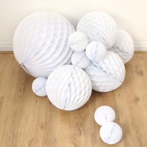Tissue Paper Honeycomb Ball Decoration - tree decorations