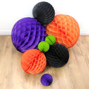 Spooktacular Halloween Paper Tissue Ball Decorations
