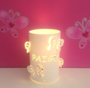 Personalised Butterfly Table Lamp - children's lighting