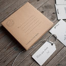 hand written tag