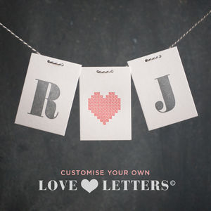 Personalised Love Letter Monogram Keepsake Card