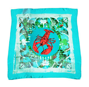 Limited Edition Green Lobster Giant Silk Scarf