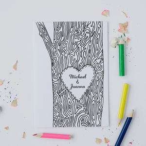 Personalised Tree Trunk 'White' Card