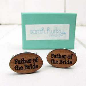 Engraved Father Of The Bride Cufflinks