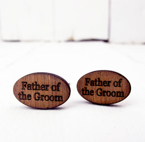 Engraved Father Of The Groom Cufflinks - cufflinks
