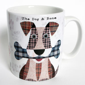 'Dog And Bone' Personalised Mug - dining room