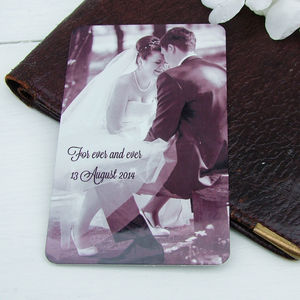 Aluminium Photo And Message Wallet Insert - shop by recipient