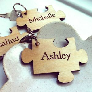 Jigsaw Piece Personalised Key Ring