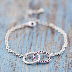 Birthstone Infinity Bracelet - winter sale