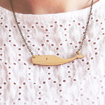 Wooden Whale Necklace