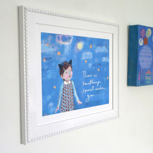 Girls Inspirational Art Print - mixed media pictures